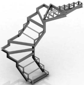 Цены на изготовление металлических лестницы с забежными ступенями в Днепре (Днепропетровск)