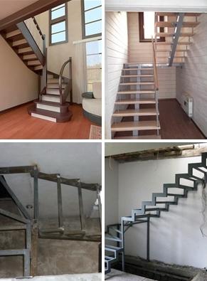 Межэтажные поворотные металлические лестницы на заказ (с поворотной площадкой на 90, 180 градусов). Изготовление Каркаса в Днепре (Днепропетр