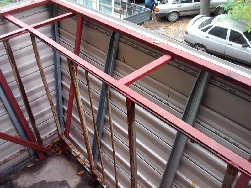 Рабочие чертежи каркаса балкона с выносом. - пластиковые окн.