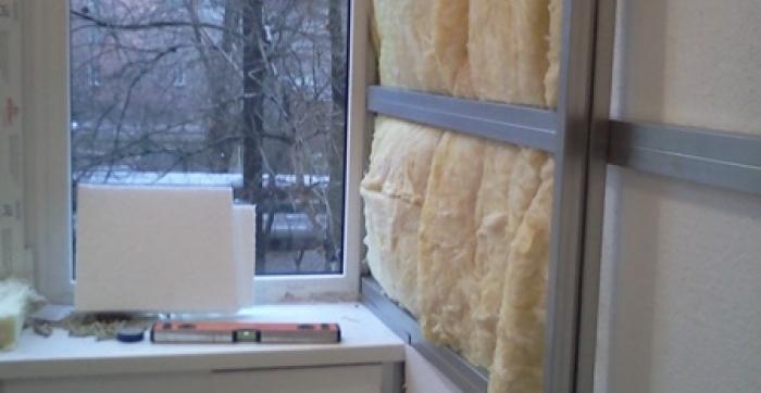 Внутренняя отделка. Утепление Балкона Стекловатой в Днепропетровске