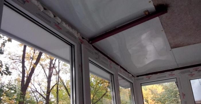 Крепление каркаса балкона к потолку Днепропетровск