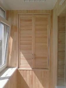 Внутренняя отделка балкона деревянной вагонкой Днепропетровск