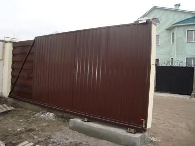 Откатные ворота (сдвижные ворота) Днепропетровск