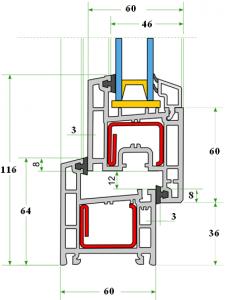 Профиль REHAU Euro-Design 60/Ecosol-Design 60