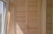 Внутреняя отделка балконов натуральными материалами: вагонка деревянная Днепропетровск